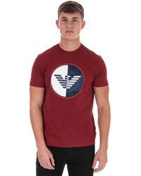 Armani Circular Print T-shirt - Red