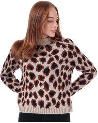 ONLY Jade Leopard Jumper - Multicolour