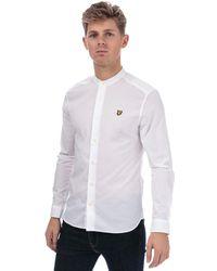 Lyle & Scott Slim Fit Grandad Collar Shirt - White