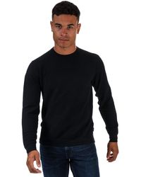 Ted Baker Staylay Textured Crew Neck Jumper - Blue