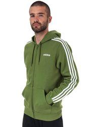 adidas Essentials 3-stripes Full Zip Hoody - Green