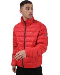 Tommy Hilfiger Packable Light Down Jacket - Red