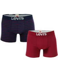 Levi's Vintage Stripe 2 Pack Boxer Short - Blue