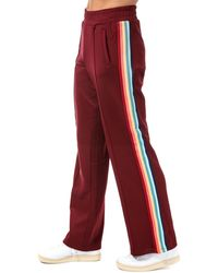 ONLY Misty Rainbow Stripe Jog Trousers - Brown