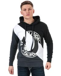 True Religion Diagonal Pullover Hoody - Black