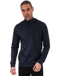 Ted Baker Ryda Half Zip Sweatshirt - Blue