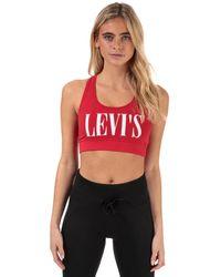 Levi's Logo Sports Bra - Red