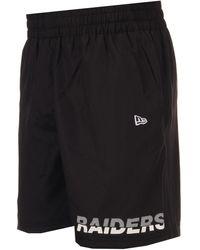 KTZ Nfl Oakland Raiders Tram Logo Shorts - Black