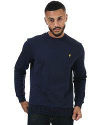 Lyle & Scott Branded Crew Neck Sweatshirt - Blue