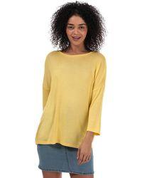 Vero Moda Brianna 3 Quarter Sleeve Oversize Jumper - Yellow