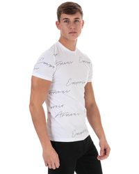 Armani All Over Logo T-shirt - White