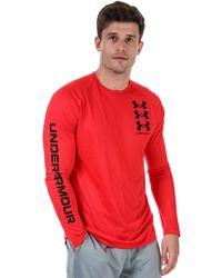 Under Armour Tech Triple Logo Long Sleeve T-shirt - Red