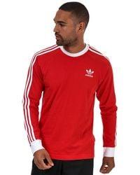 adidas Originals 3-stripes Long Sleeve T-shirt - Red