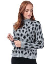 ONLY Jade Leopard Jumper - Grey