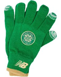 New Balance Celtic Fc Knitted Gloves - Green