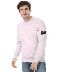 Calvin Klein Monogram Badge Sweatshirt - Pink