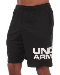 Under Armour Ua Tech Wordmark Shorts - Black