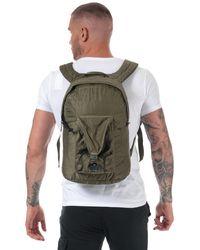 C P Company Garment Dyed Nylon Sateen Backpack - Green