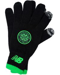 New Balance S Celtic Fc Knitted Gloves In Black