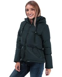 Brave Soul Cello Padded Hooded Jacket - Blue