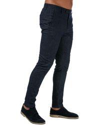 Ted Baker Haloe Super Slim Plain Trousers - Blue