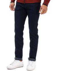 Ted Baker Shandal Straight Fit Printed Hem Jeans - Blue