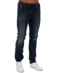 Calvin Klein Slim Straight Fit Jeans - Blue