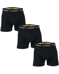 Farah Saginaw 3 Pack Boxer Shorts - Black