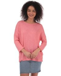 Vero Moda Brianna 3 Quarter Sleeve Oversize Jumper - Pink