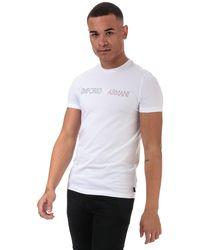 Armani Line Logo T-shirt - White