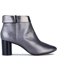 Ted Baker Mharial Circular Heel Ankle Boots - Grey
