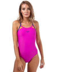 Speedo - Splice Thinstrap Racerback Swimsuit - Lyst