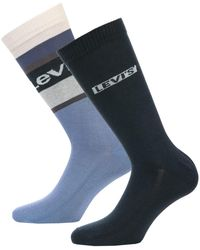 Levi's Colour Block 2 Pack Socks - Blue