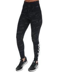adidas Essentials Allover Print Tights - Black