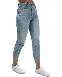 Tommy Hilfiger Mom Ultra High Rise Tapered Jeans - Blue