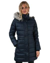 Tommy Hilfiger Essential Down Filled Faux Fur Trim Jacket - Blue