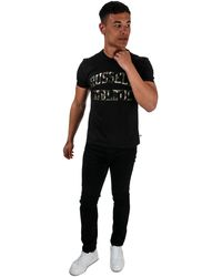 Russell Athletic Camo Printed T-shirt - Black