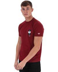 Armani Emoji Logo T-shirt - Red
