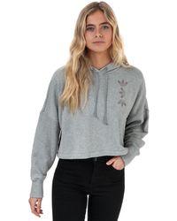 adidas Originals Large Logo Cropped Hoody - Grey