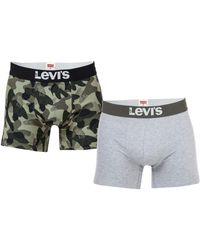 Levi's Basic 2 Pack Boxer Shorts - Grey
