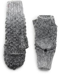G.H.BASS G.h. Bass Knit Ombre Flip-top Glove - Black