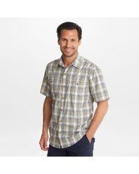 G.H.BASS G.h. Bass Short Sleeve Bluewater Bay Plaid Shirt - Gray