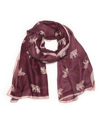 G.H.BASS G.h. Bass All Over Bear Oblong Scarf - Red