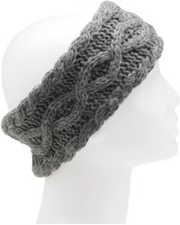 G.H.BASS - Cable Fur Lined Headband - Lyst