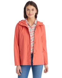 G.H. Bass & Co.  Rubberized Rain Jacket - Pink