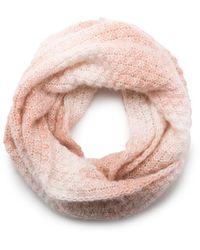 G.H.BASS G.h. Bass Textured Knit Ombre Infinity Scarf - Pink