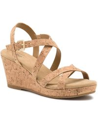 G.H.BASS G.h. Bass Karly Wedge Sandal - Brown