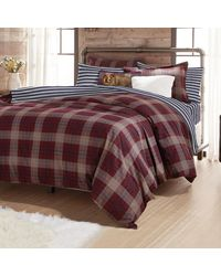 G.H.BASS G.h. Bass Canyon Plaid Comforter Set - Purple