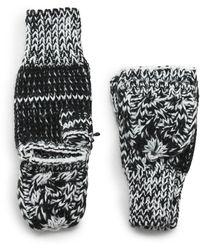G.H.BASS G.h. Bass Knit Flip-top Glove - Black