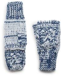 G.H.BASS G.h. Bass Knit Flip-top Glove - Blue